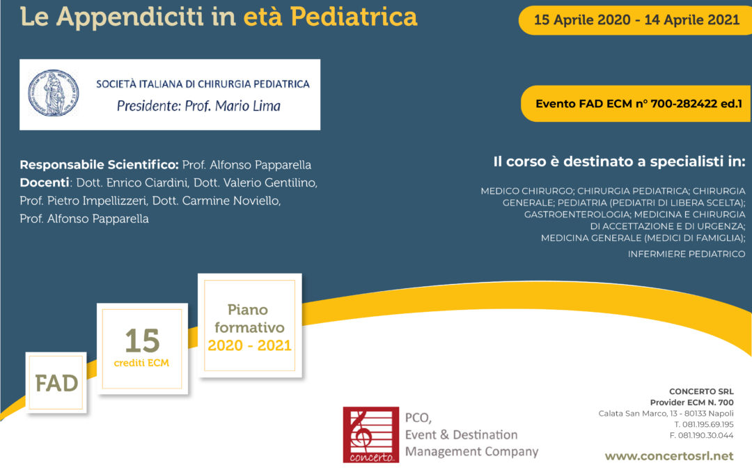 Le appendici in età pediatrica